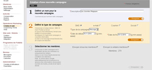 Quick launch of multi-channel marketing campaignas including emailing, sms and social networks